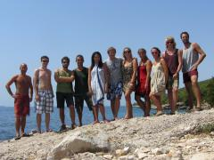 A big group of couchsurfers I met in Croatia