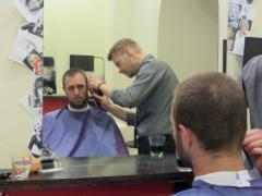 Haircut from a CS host - gotta look sharp in my profile photo