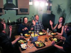 Estonian friends who hosted me before I returned the favor months later